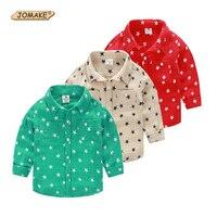 نجوم كامل المطبوعة الفتيان أزياء مصمم الاطفال قمصان الأطفال ملابس الأولاد ملابس جديدة لل طفل الصبي قميص