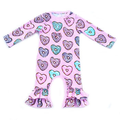 Donuts valentinstag St Patrick ostern Tag mädchen kleid kleidung icing rüsche babys strampler groß großhandel baby kleidung