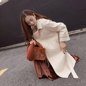 autumn and winter woolen coat female Mid-Long 2