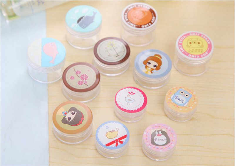 2017 3pcs/lot Cosmetic Empty Jar Pot Eyeshadow Makeup Face Cream Container Bottle Fashion Design Makeup Tool Makeup Containers