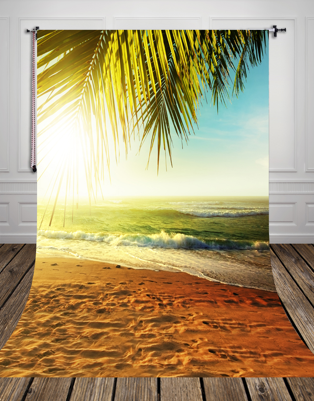 150 220CM Photography Background seaside beach Hawaii Digital Printing Newborn Backdrops For Photo Studio D 9274