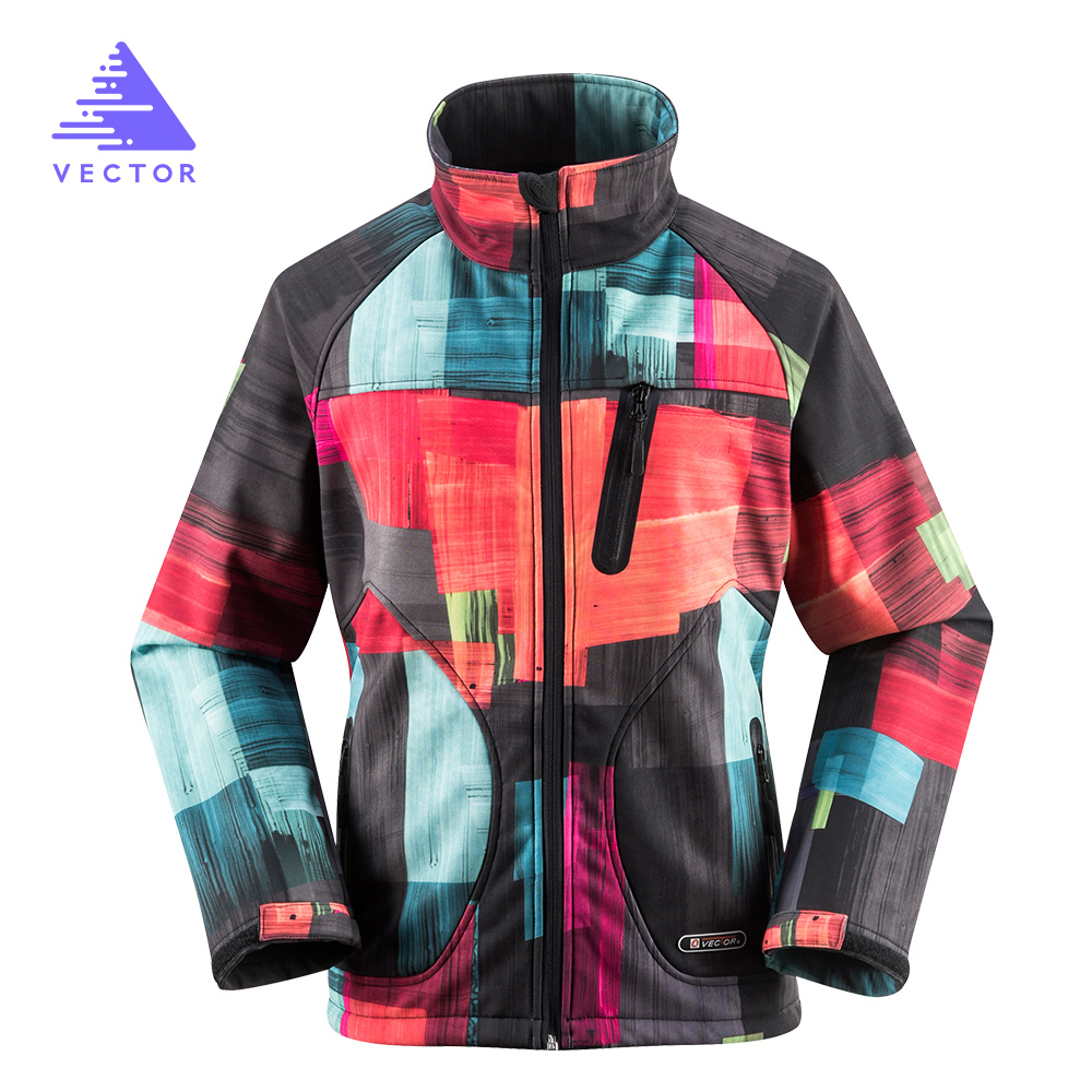 VEKTÖR Softshell Ceket Kadın Rüzgar Geçirmez Su Geçirmez Açık Ceket Yağmur Tırmanma Kamp Yürüyüş Ceketler Açık 60015