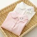 Moda Niños Niñas Camisas de Color Sólido de La Manga Completa Blusas Sonrisa Cara tx-6497