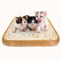 40cm Toast Bread Shape Mat Dog Cat Padded Pet Bolster Dog Puppy Warm House Bed Cushion