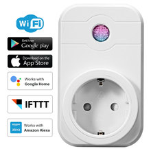 WiFi Smart Socket Power Plug With Timing APP Remote Control Compatible With Amazon Alexa Google Home Mini Smart Home Automation qiachip wifi smart home socket app remote control light switch work with amazon alexa google home for phone french plug socket