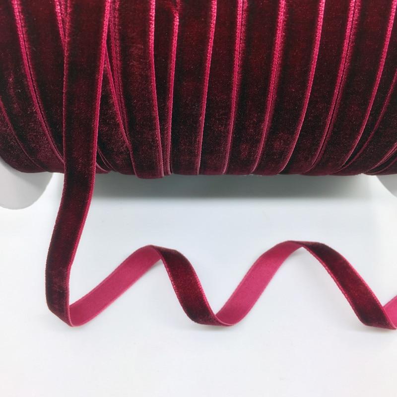 "HTB1hlkGcfal9eJjSZFzq6yITVXaR 5 Yards 3/8""(10mm) Velvet Ribbon Wedding Party Decoration Handmade Ribbon Gift Wrapping Hair Bows DIY Christmas Ribbon"