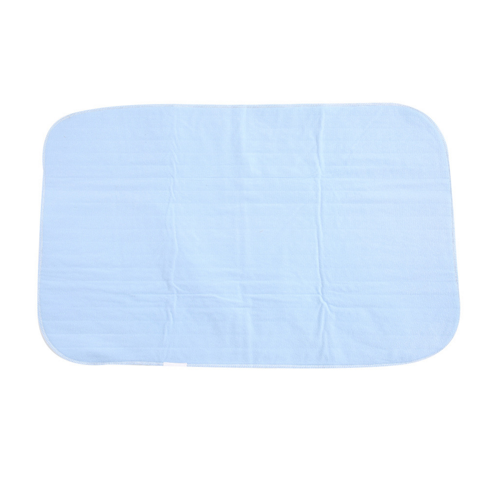 Reusable M Size Blue-green Color Rayon And Polyester Fabric Bed Underpad Washable Waterproof Kids Adult Diaper Incontinent Pad
