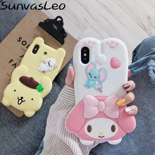 New Arrival For iPhone 6 6s 7 8 Plus X XS XR Xs Max 3D Cute Cartoon Animal Soft Silicone Case Cell Phone Back Cover Shell Skin