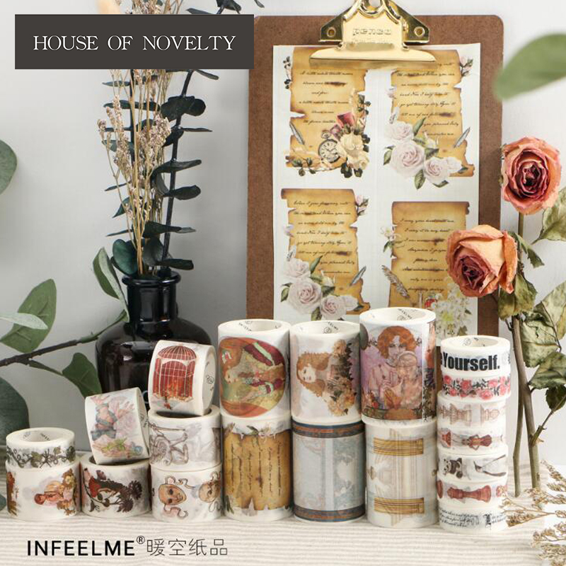 Infeel.Me New World Washi Tape Adhesive Tape DIY Scrapbooking Sticker Label Masking Craft Tape shading color washi tape adhesive tape diy scrapbooking sticker label masking tape