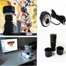 Big discount NEW! 5MP USB Digital microscope Electronic Eyepiece CCD Camera Video with adapter /c-mount for stereo biological microscope
