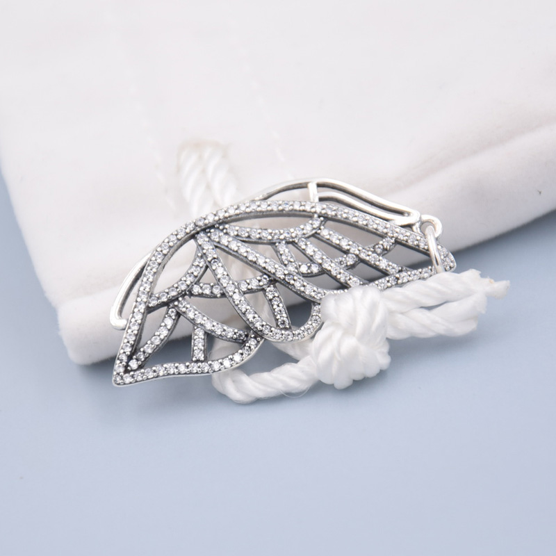 ae48a7d98b83b US $11.82 9% OFF|925 Sterling Silver Bead Charm Sparkling New Beginning  Butterfly With Crystal Necklace Pendant Fit Pandora Bracelet Diy Jewelry-in  ...