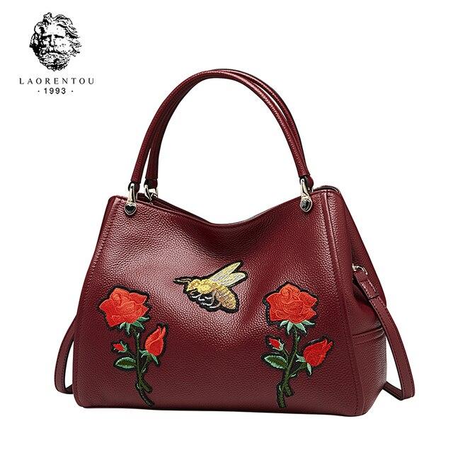 Laorentou Для женщин кожа Hnad Сумки сумка Женские сумки Сумки через плечо Повседневное Для женщин Роскошные Tote подарок ко Дню Святого Валентина
