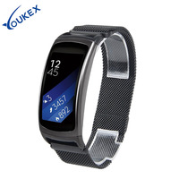 YOUKEX Milanese Loop Stainless Steel Watch Band Replacement Link Bracelet Strap For Samsung Gear Fit 2