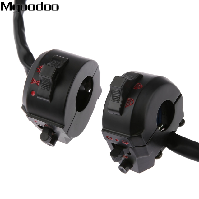 """New Motorcycle ATV 22mm Handlebar Left Right Side Control Switch High/Low Beam Light Turn Signal Horn Switch 7/8"""" Motorbike Part"""