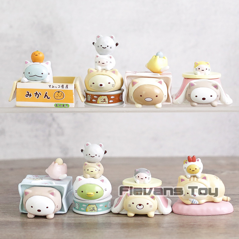 Cute Japanese Animation San-X Sumikko Gurashi Action Figures Toys For Kids  Children's Christmas Gifts 8pcs/set