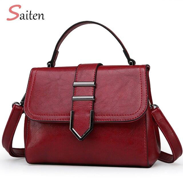 2018 Saiten Casual Pu Leather Women S Handbag For Female Hand Bag Elegant Messenger Shoulder Bags