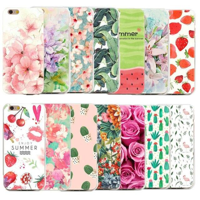 floral case for apple iphone 7 plus 5 5s se 6 6s 7 cases 3d flowers