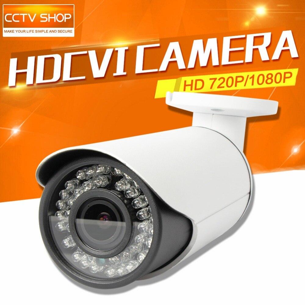 720P HD CVI Camera 2MP 1080P Outdoor 40m IR Distance Real-Time Transmission Varifocal 2.8-12mm Lens Bullet CCTV HDCVI Camera