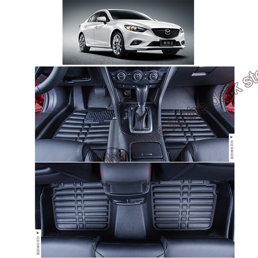 free shipping fiber leather car floor mat carpet rug for mazda 6 mazda6 atenza gj 3rd generation 2012 2013 2014 2015 2016 2017 все цены