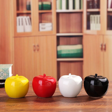 цена на 1PCS Ceramic Apple Figurines Fruit Model Miniatures Christmas Birthday Gifts Living Room Bedroom Decoration Crafts Home Decor
