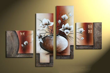 Modern Abstract Oil Painting Flower on the canvas Wall Decor Art Home decoration