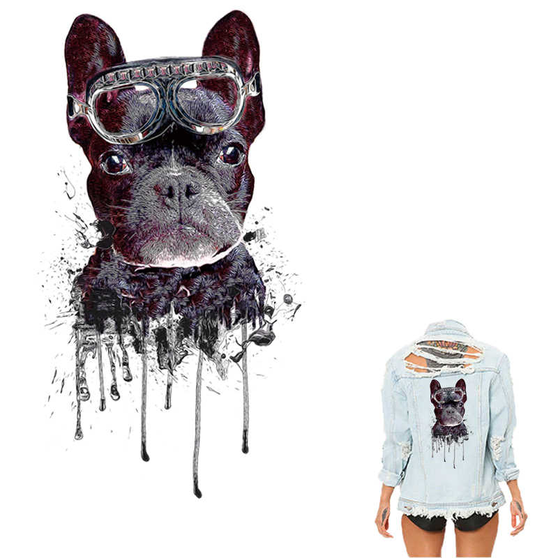 foto de COSBILL Iron On Transfer For Clothes Black Bulldog Patches New ...