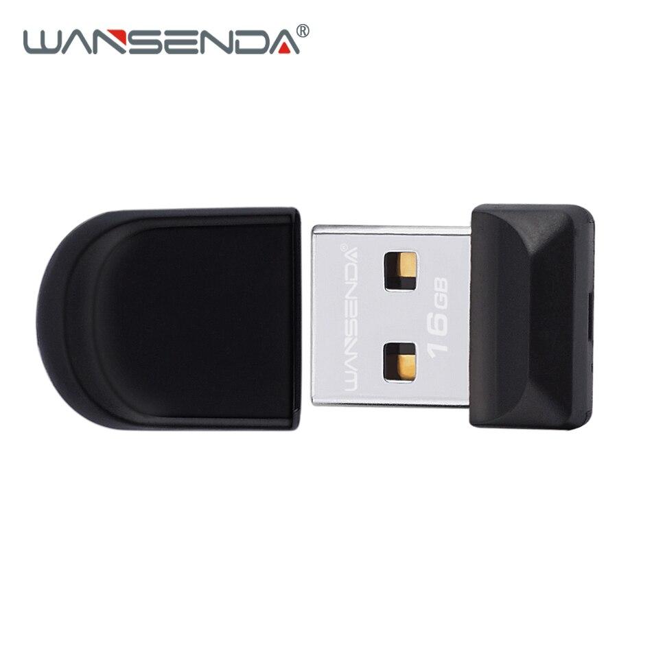 WANSENDA Black Super mini USB Flash Drive Waterproof Pen Drive 32GB 16GB 8GB 4GB Real Capacity usb stick Pendrive Usb Flash Disk music note style usb 2 0 flash drive white black 32gb