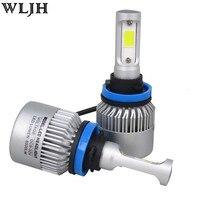 Wljh 2x H8 H11 H7 H4 LED 36 Вт 3600lm COB Чип C6 LED 12 В 24 В Авто Двигатель свет Фар H4 Высокая ближнего света фар автомобиля лампа