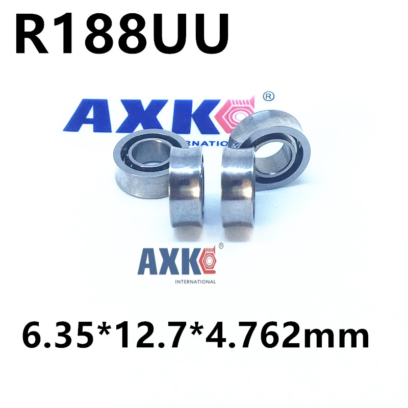 R188UU  R188  Deep groove ball bearings R188UU / 10 steel balls / R188 YOYO ball bearings / U-groove bearings mtgather durable steel 6800zz deep groove ball bearings two side metal shields 10x19x5mm mechanical parts accessories