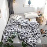 Leopard Print Summer Bedspread Quilt Soft Skin friendly Comfortable Air Condition Summer thin Comforter Office throw Blankets