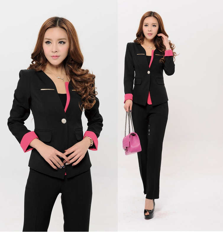 Aliexpress.com : Buy Plus Size Elegant Black Formal Women Pants ...