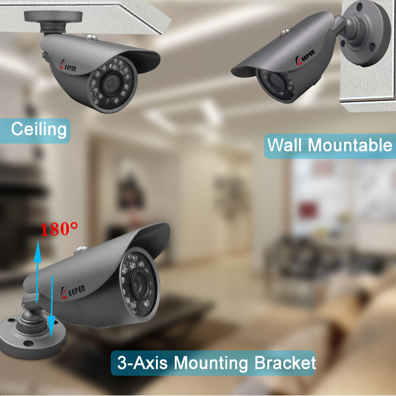 Keeper 2.0MP 1080P AHD surveilance security cameras with IR-CUT 24 IR LEDs Night Vision Analog camera indoor/outdoor HD camera