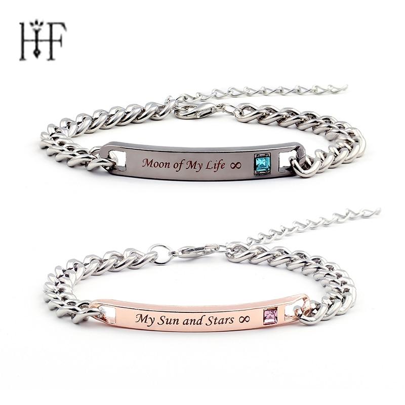 2pcs Game of Thrones Bracelets & Bangles Lovers Couple Bracelets Moon of My Life My Sun and Stars Bracelet For Women Men Gift
