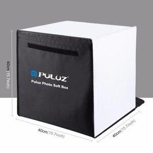 """Image 4 - PULUZ 40*40 centimetri 16 """"Photo studio box photograghy Softbox Portatile Pieghevole Studio di Ripresa Tenda Box Kit con 5 sfondo fondali"""