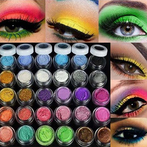 30Pcs Unisex Fashion Glitters Cosmetic Eye Shadow Mineral Powder Professional Makeup 30 Colors цены