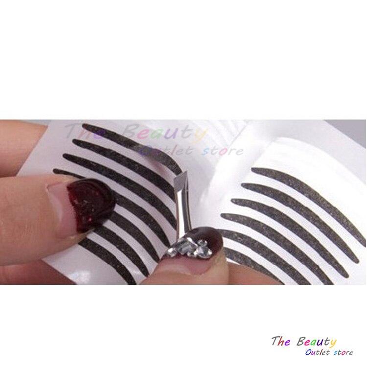 US $1 19 10% OFF|72pair Black Eyeliner Stickers Cat eye Wool Adhensive  Double Eyelid Beautiful Eyes Stickers Professional Beauty Make Up Tools-in