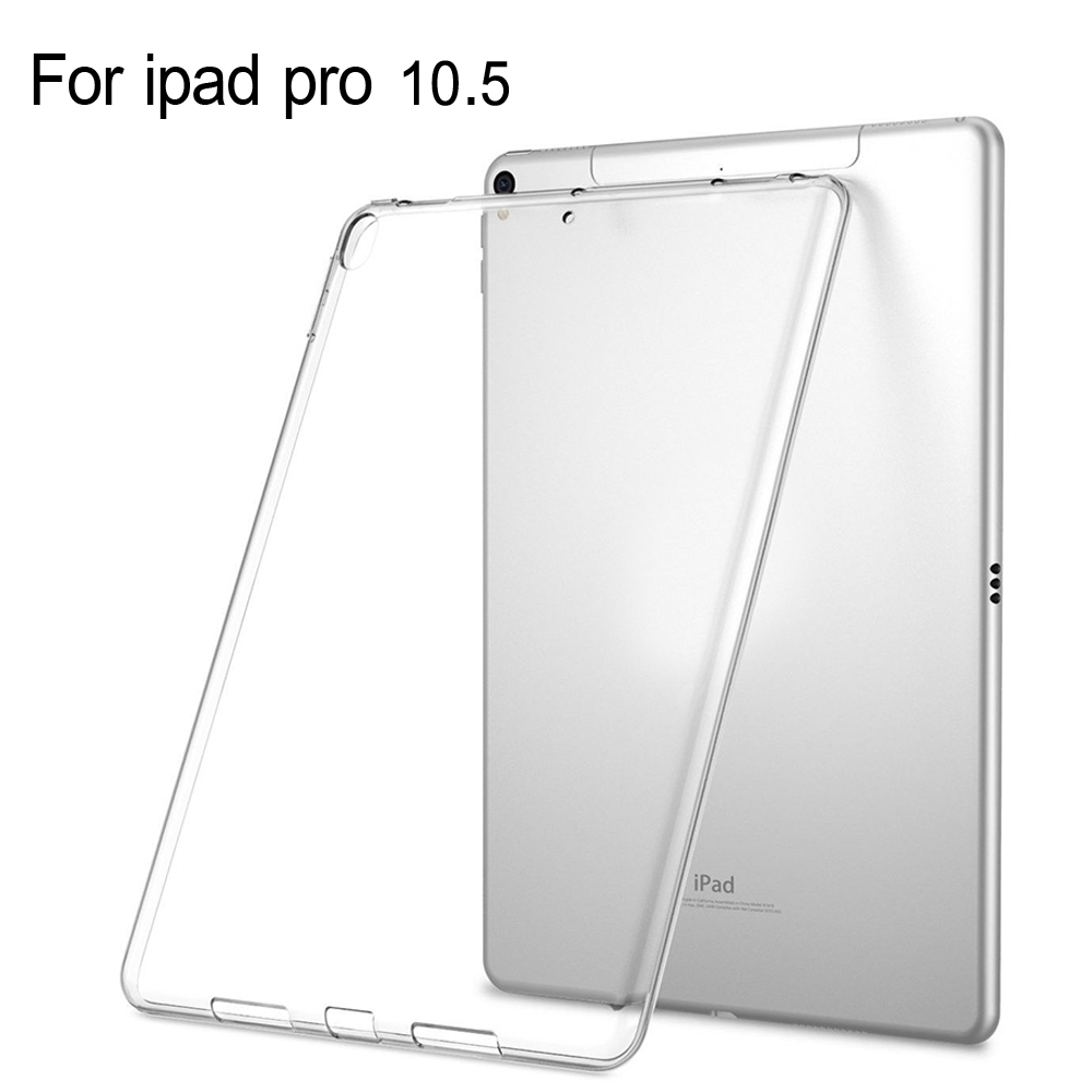 new For Tablet apple Ipad pro 10.5 inch 2017 10.5'' Case Slim Crystal Clear TPU Silicone Protective Back Cover + Stylus Pen redlai colors crystal clear laptop case