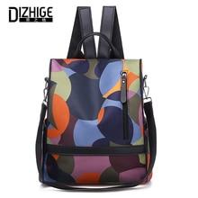 цена DIZHIGE Brand Fashion Waterproof Oxford Women Anti-theft Backpack High Quality School Bag For Women Multifunctional Female Bags