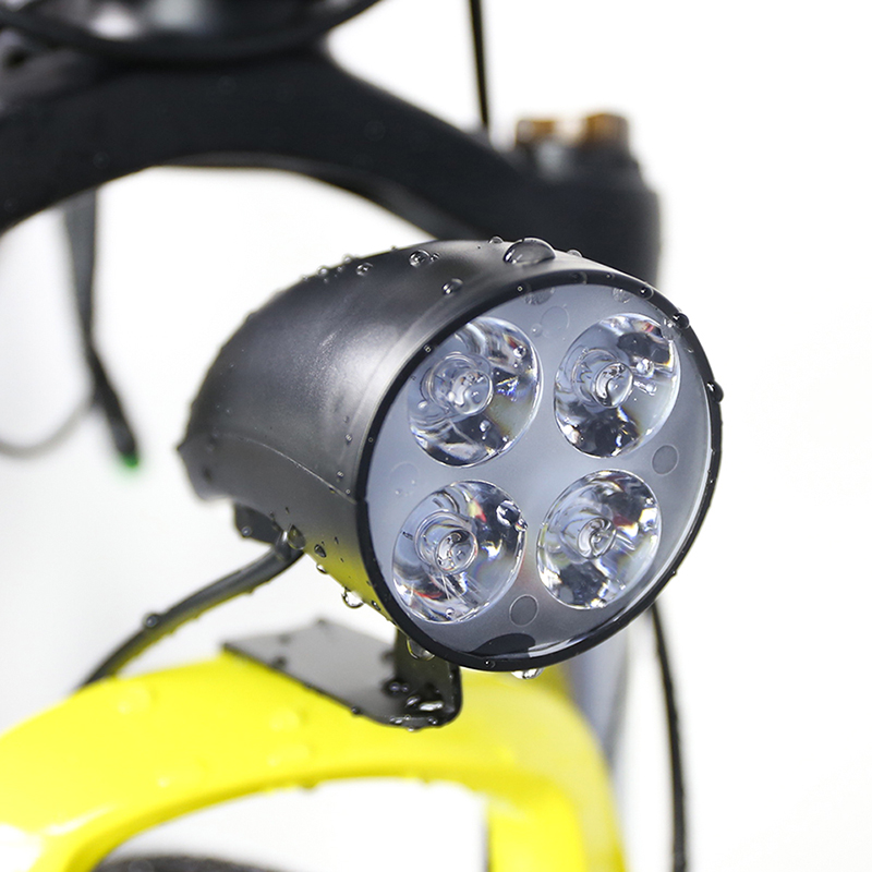 36v 48v Electric Bike 3 Led Light Waterproof Flashlight With Horn For Electric Bike E Bike Headlight Front Light Sports & Entertainment