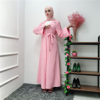 New Ladies Dress Pure Handmade Beaded Cardigan High Waist Flare Sleeve Dress Fashion Middle Eastern Muslim Cardigan Long Dress