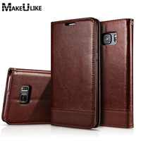 MAKEULIKE For Samsung Galaxy Note 8 9 Flip Case Cover For Samsung Galaxy S8 S9 S7 S6 Edge Plus PU Leather Magnetic Phone Case