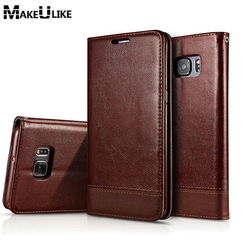 Δερμάτινη θήκη για Samsung Galaxy S10 Plus S10e Note 8 9 Flip Case για Samsung Galaxy S8 S9 S7 S6 Edge Plus Magnetic Phone Cover