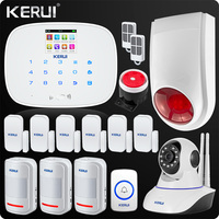 KERUI 2018 Newest Arrival GSM Wireless Home Security Alarm System Wifi IP Camera SMS RFID Detector