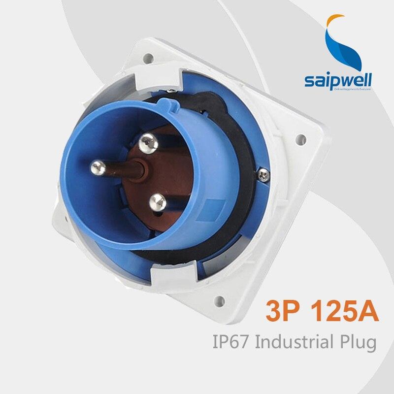 Saipwell IP67 Waterproof Outdoor Plug Standard Electrical Plug uk 3 pin Plug SP 3665 High Quality