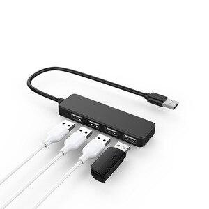 Image 4 - Hub de estación de acoplamiento USB de alta velocidad uno para cuatro conectores de interfaz y convertidor de hub ultrafino