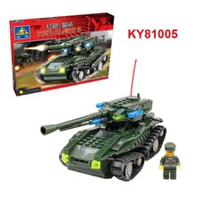 Red Alert 3 Series USA Guardian Tank Model Military Building Block Kit Small Solider figure Bricks KY81005