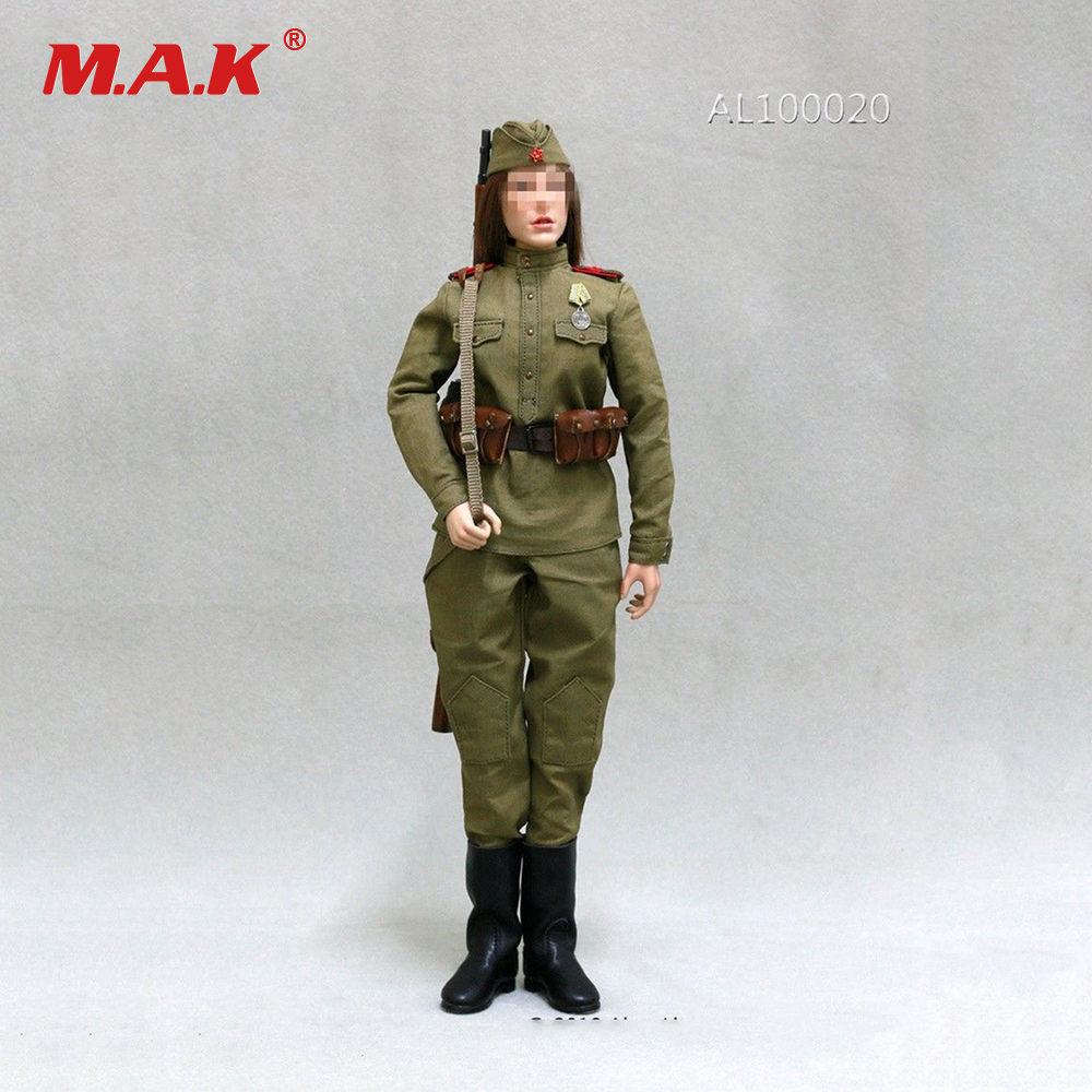 AL100020 1/6 Female Clothes Accessories WWII Woman Soviet Sniper Solider Clothes Set for 12 Action Figure Doll 1 6 scale figure doll clothes for 12 action figure doll accessories female sexy dress not include doll and other accessories