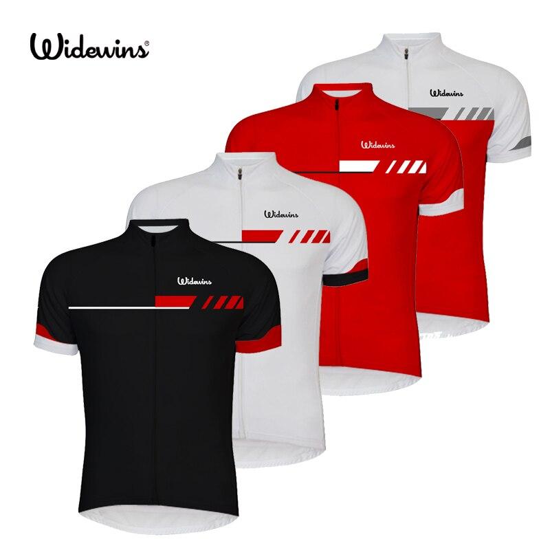 Widewins bicicleta equipo mujeres/hombres Ciclismo Jersey tops manga corta ropa verano estilo Bicicletas ropa Blanco/negro /rojo 6510