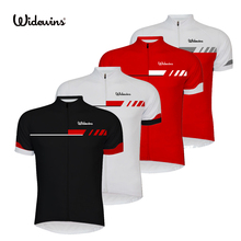 widewins Bike team Women/Men Cycling jersey tops short sleeve bike clothing summer style Bicycle Clothes white/black/Red 6510