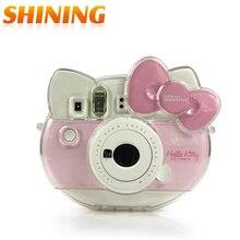 Transparent Crystal Camera Case Bag For Fujifilm Instax Camera Cheki Instax Mini Hello Kitty INS MINI KIT Polaroid Free Shipping
